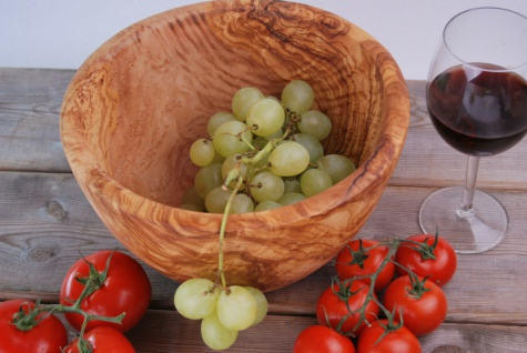 Schüssel Salatschüssel Obstschale Salatschale Schale Schüßel Olivenholz 25Cm - Vorschau 4