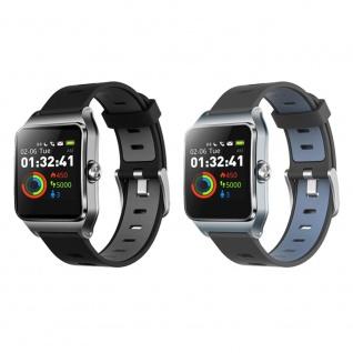 JBC Bluetooth P1C Smartwatch Fitness Uhr für 17 verschiedene Sportarten mit Schrittzähler Schlaftracker Kompatibel mit Android/IOS Smartphone