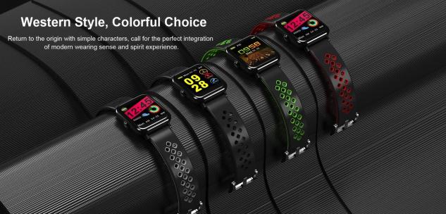 JBC Fitness Tracker Smart Bracelet/Armband Uhr mit Herzfrequenz, Schrittzähler Pulsmesser Schlafmonitor Kalorienzähler