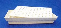 Käfigschale mit Lochrost für den Transportkäfig aus Metall