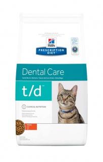 Hill´s Prescription Diet Feline t/d Prophylaxe für erwachsene Katzen zur Reduktion von Zahnbelägen