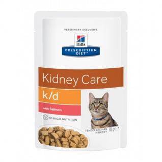 Hill´s Prescription Feline k/d Frischebeutel mit Lachs