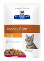 Hill´s Prescription Feline k/d Frischebeutel mit Rind