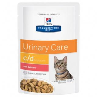 Hill´s Prescription Feline c/d multicare Frischebeutel mit Lachs