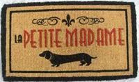 """Mars & More Kokos-Fußmatte """" La Petite Madame"""""""