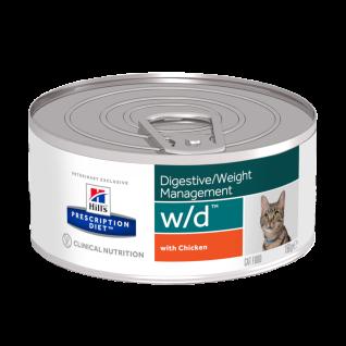 Hill´s Prescription Diet Feline w/d Dosen Ernährungshilfe für Katzen bei Colitis, Diabetes mel. u. Übergewicht