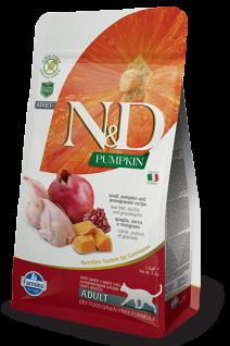 Farmina N&D Getreidefrei Wachtel, Kürbis & Granatapfel für erwachsene Katzen