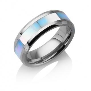 "Tungstino Ring "" Perlmutt"" Wolframcarbid"