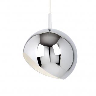 Moderne Retro Pendelleuchte Kugelform Chrom   LED 6-10 Watt   2 Größen