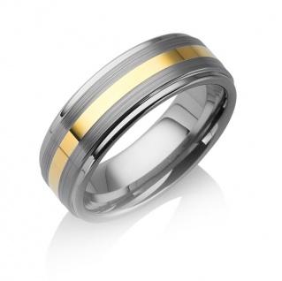 """Tungstino Ring """" 24k Gold Inlay"""" Wolframcarbid"""