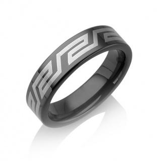 """Tungstino Ring """" Black 3D-Laser"""" Wolframcarbid"""