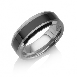 "Tungstino Ring "" Black Inlay"" Wolframcarbid"