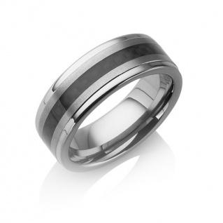 "Tungstino Ring "" Carbon Fiber Black"" Wolframcarbid"