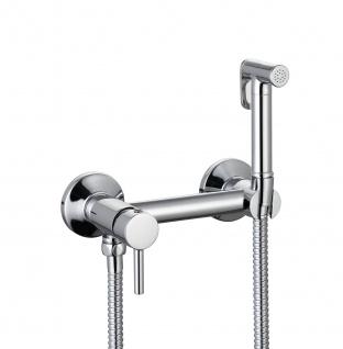 Design WC/Bidet Handbrause Komplett Set mit Mischer Aufputz