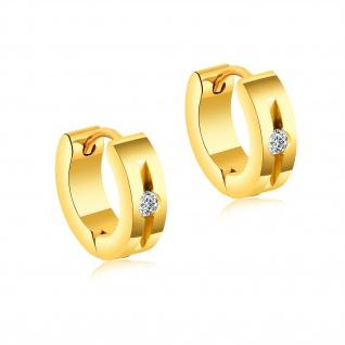 Titan Creolen Gold schmal