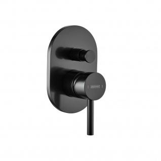 Stilform formschöne Duscharmatur aus der Serie Park 2.0 als Unterputz Einhebelmischer in Schwarz Matt