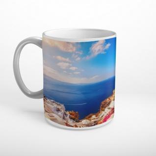Santorini Griechenland Meer Insel Tasse T1755