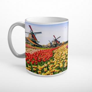Tulpen Feld Windmühlen Holland Tasse T2021