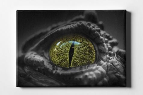 Tieraugen Krokodil Leinwand L0108