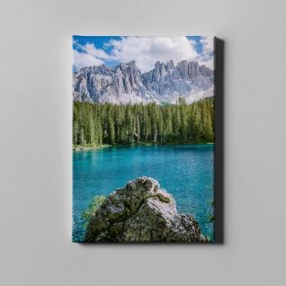See Felsen Wald Gebirge Landschaft Leinwand L0380