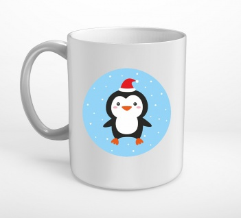 Weihnachten Pinguin Schnee Tasse T0345