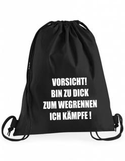 Bin zu dick zum Rennen Beutel B0040