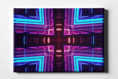 Neon Licht Spiegelung Leinwand L0088
