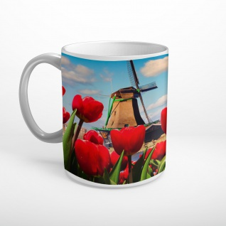 Tulpen Windmühle Holland Niederlande Tasse T1918