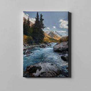 Gebirge Stromschnellen Felsen Landschaft Leinwand L0364