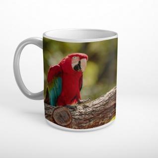 Papageien Baumstamm Vögel Vogel Tasse T1653