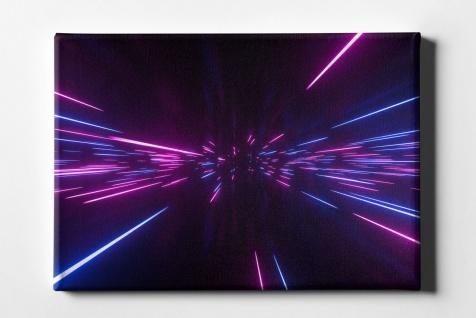 Neon Licht Dynamisch Leinwand L0100
