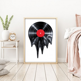 Vinyl Schallplatte Musik Illustration Kunstdruck Poster P0504 - Vorschau 2