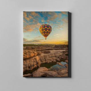 Heißluftballon Felsen Landschaft Leinwand L0367