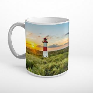 Sylt Strand Meer Leuchtturm Tasse T1365