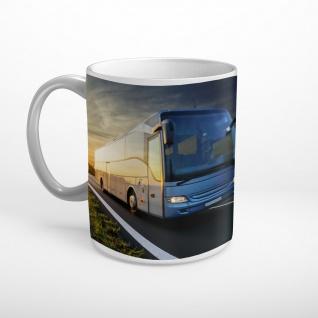 Reisebus Bus Sonnenuntergang Tasse T0960