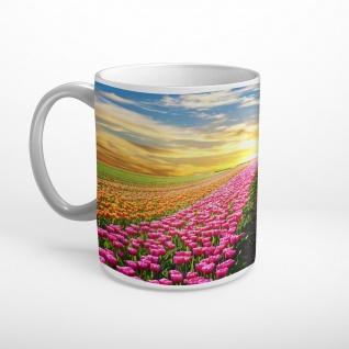 Tulpen Feld Sonnenuntergang Tasse T1861