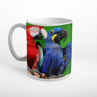 Papageien Vögel Pärchen Tasse T1615