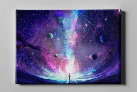 Surreal Planeten Galaxie Universum Leinwand L0277