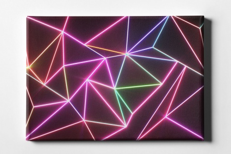 Neon Linien Muster Leinwand L0086