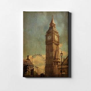 London Big Ben Vintage City Leinwand L0418