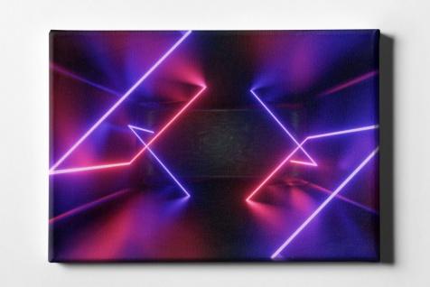 Neon Linien im Raum Leinwand L0097