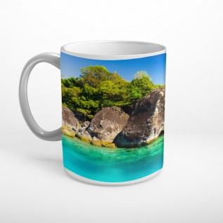 Insel Felsen Meer Tasse T1250