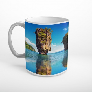 Meer Insel Klippe Felsen Tasse T1862
