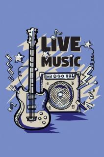 Gitarre Verstärker Musik Illustration Kunstdruck Poster P0429