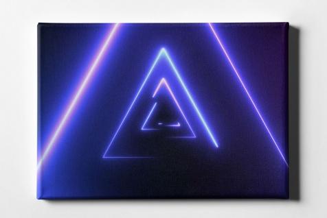Neon Dreieck Leinwand L0093