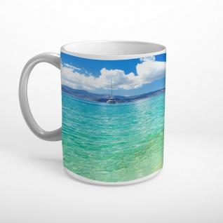 Meer Strand Boot Tasse T1751