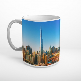 Dubai Skyline Stadt Tasse T0556