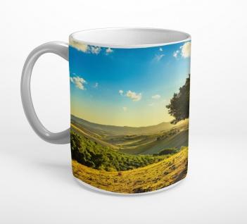 Felder Landschaft Sonne Sommer Tasse T0813