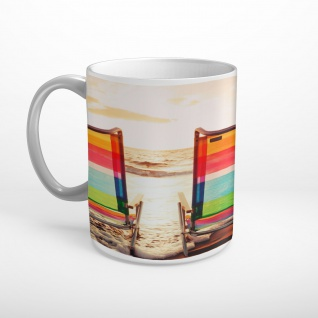 Meer Strand Sonnenliegen Tasse T1796