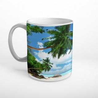 Strand Meer Palme Insel Tasse T1807